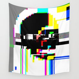 glitch scull Wall Tapestry