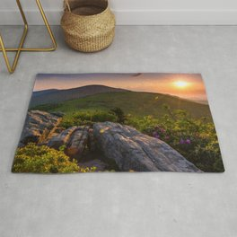 Photo USA Roan Mountain State Park Roan Mountain Appalachian Mountains Tennessee Nature park Scenery Sunrises and sunsets mountain Parks sunrise and sunset landscape photography Rug