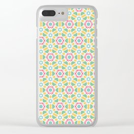 Cheerful pattern Clear iPhone Case