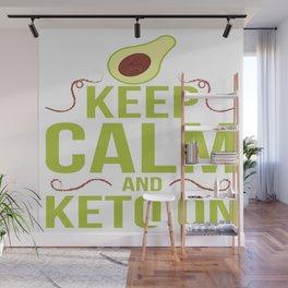 Keep Calm Avocado Keto Ketogen Ketone Diet Gift Wall Mural