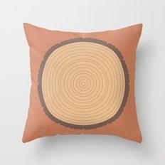 Logged Time (clock#24) Throw Pillow
