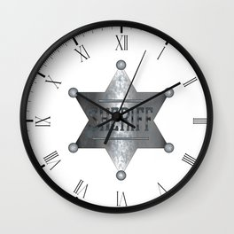 Sheriff Badge Wall Clock
