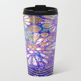 Pattern in Purples and Blues Travel Mug