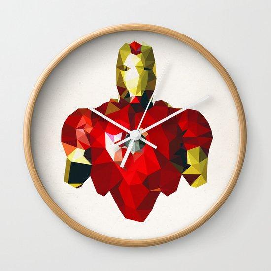 Polygon Heroes - Iron Man Wall Clock