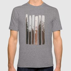 Into The Wild MEDIUM Tri-Grey Mens Fitted Tee