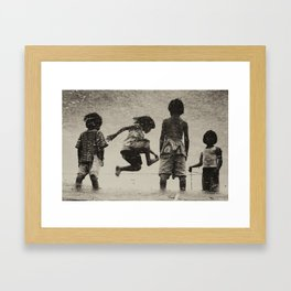 Old Play Framed Art Print