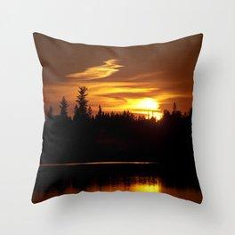 Northern Sunset 001 Throw Pillow