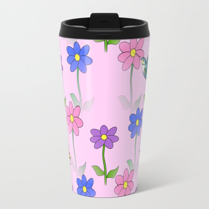 Pink Nature Travel Mug