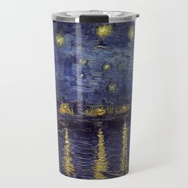Vincent Van Gogh Starry Night Over The Rhone Travel Mug