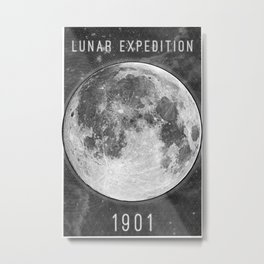 1901 Lunar Expedition Poster Metal Print