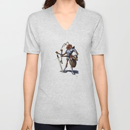 Soldiering On (wordless) Unisex V-Neck