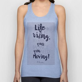 A. Einstein quote on life for motivation inspiration and strenght, typography, illustration, decor Unisex Tank Top