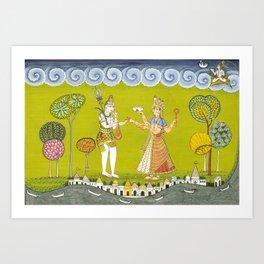 Shiva and Annapurna Art Print