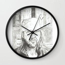 David Foster Wallace portrait Wall Clock