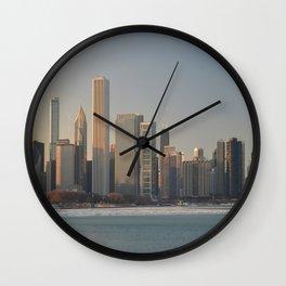 Chicago skyline #2 Wall Clock