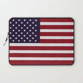 American flag with painterly treatment Laptop Sleeve