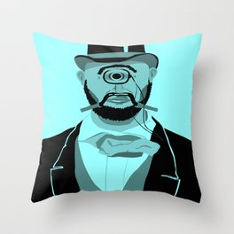The Greatest Mustache Unknown to Man Throw Pillow