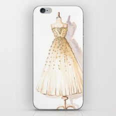 Glow and Cream Watercolor Gown iPhone & iPod Skin