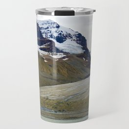 Athabasca Glacier in the Columbia Icefields, Jasper National Park Travel Mug