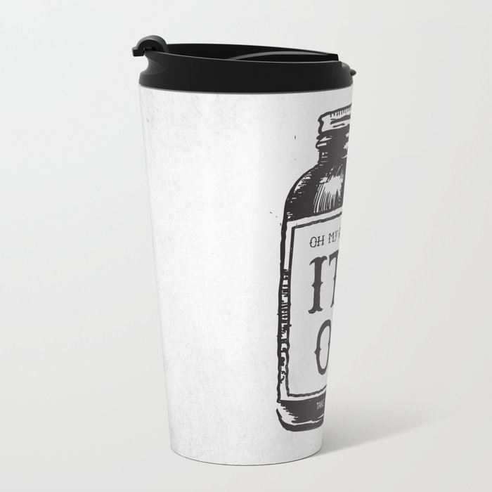 IT'S OK Metal Travel Mug