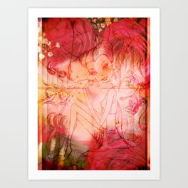 girl butterfly Art Print