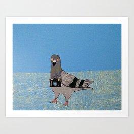 Spy Pigeon Art Print