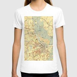 Vintage Map of Savannah Georgia (1942) T-shirt