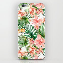 Tropical Jungle Hibiscus Flowers - Floral iPhone Skin