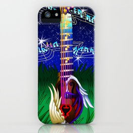 Fusion Keyblade Guitar #173 - Way to the Dawn & Counterpoint iPhone Case