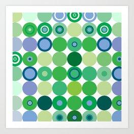 Circles of Luck Art Print
