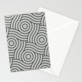 Circle Swirl Pattern Gray, Inspired by Benjamin Moore Metropolitan Gray AF-690 Stationery Cards