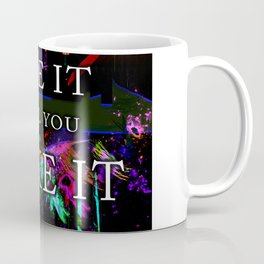 Law of Attraction Fake it Until You make it Space Universe Coffee Mug