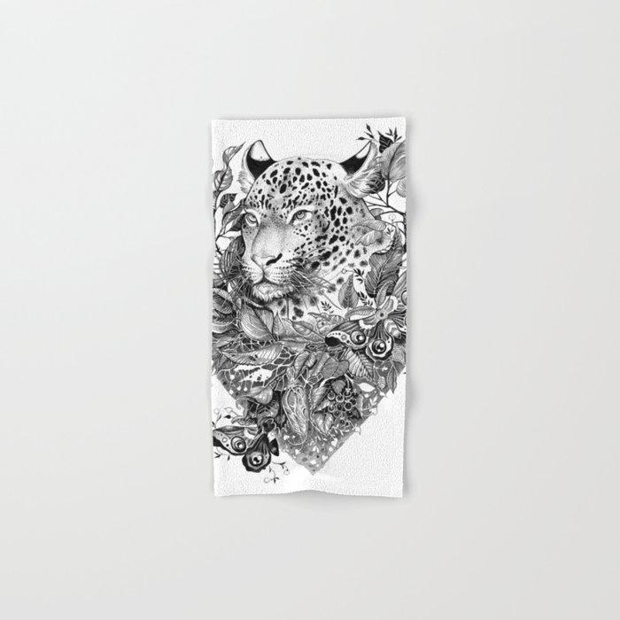 black and white jungle leopard Hand & Bath Towel