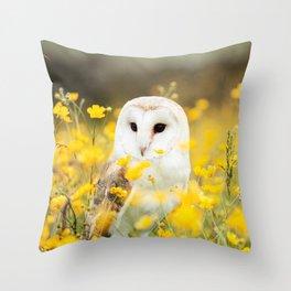 Australian Barn Owl (Tyto Alba) Throw Pillow