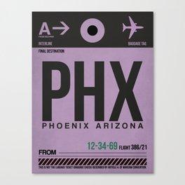 PHX Phoenix Luggage Tag 1 Canvas Print