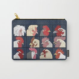 Rooster Face vertical Carry-All Pouch
