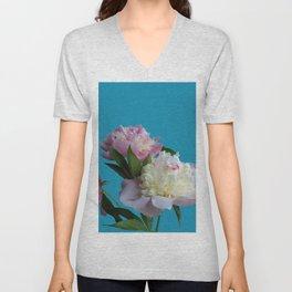 Peonies Flowers Unisex V-Neck