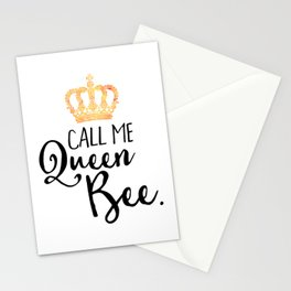 Queen Bee Funny Quote Stationery Cards