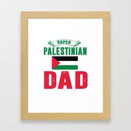 Super palestinian dad. Framed Art Print