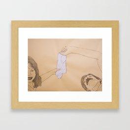 Father, Daughter Framed Art Print