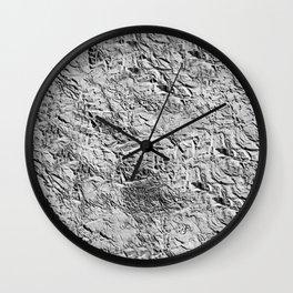 Textured White Wall Clock