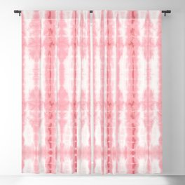 Tiki Shibori Pink Blackout Curtain