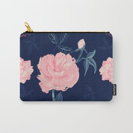Vintage roses and peonies with indigo palette Carry-All Pouch