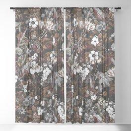 NIGHT GARDEN XXIV Sheer Curtain