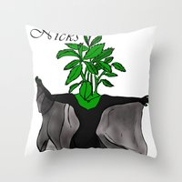 stevie nicks Throw Pillows featuring Stevia Nicks by Pattavina