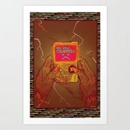 Glitchd Art Print