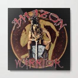 Amazon Warrior Metal Print