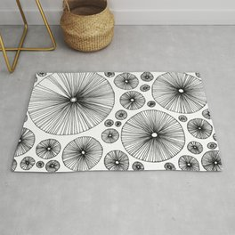 Under the Mushroom Circle Graphic Pattern Rug