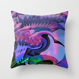 Rubellite Throw Pillow