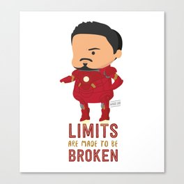 Limits are made to be broken - Iron Man Canvas Print